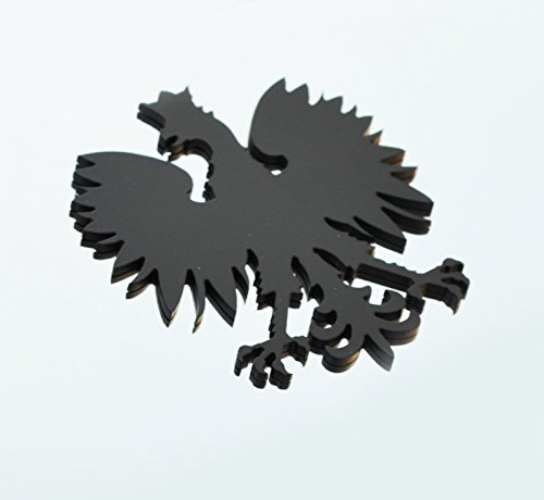 Stainless Steel Poland Polish Eagle Metal Decorative Emblem Decal Ornament Crest Blasted, Mirror Polished, or Black 5