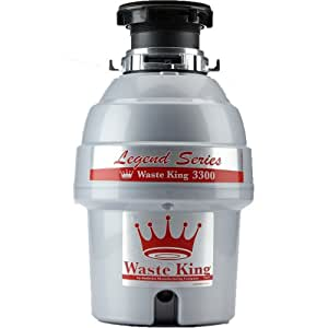 Waste King Legend Series 3/4 HP Continuous Feed Garbage Disposal with Power Cord - (L-3300)