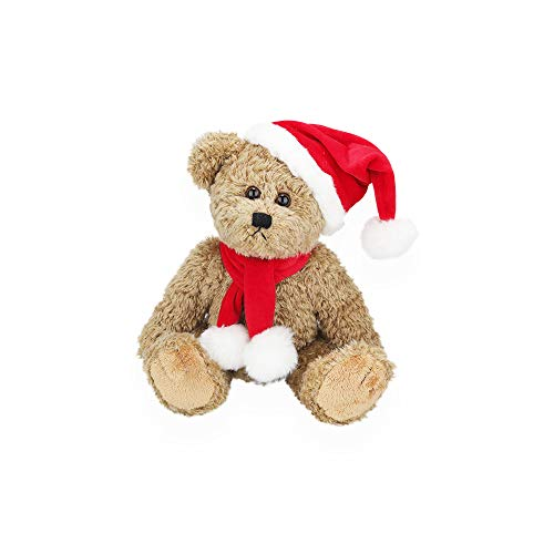 Plushland Santa Christmas Oatmeal Bear - Best Holiday Toy Gift for ()