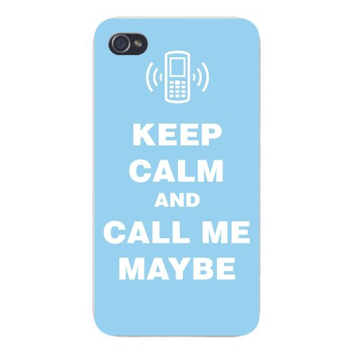 Apple Iphone Custom Case 5 5s AND SE Snap on - Keep Calm and Call Me Maybe w/ Cell Phone - Rae Call Mobile