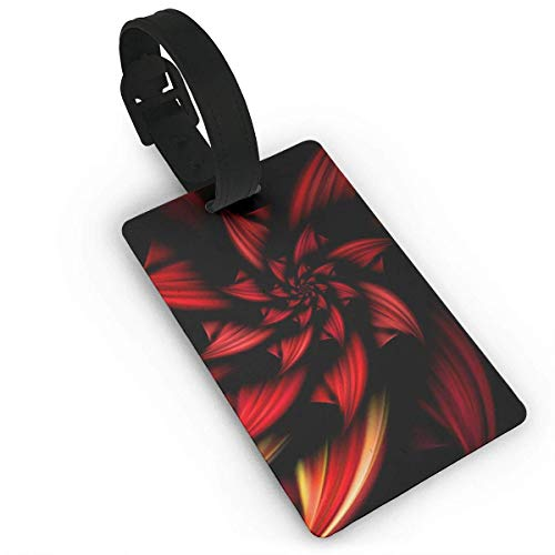 - Travel Luggage Suitcase Labels, ID Tags Business Card Holder, Luggage Tags with Genuine Hand Strap Abstract Rose Travel Suitcase Bag Tag Identify Label
