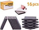 Non Slip Furniture Pads-16 PCS 3'' Furniture Gripper- Premium SelfAdhesive Furniture Feet with Rubber & Felt-Best Non Skid Furniture Pad Floor Protectors for Keep All Furniture Fix in Place (16 PCS 3'')