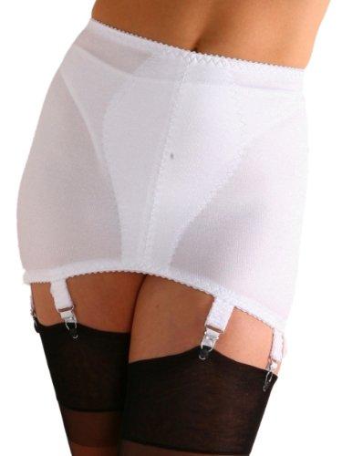 Premier Lingerie '8 Garter' Vintage Style Shapewear Girdle (NDG8) (XL, White) (Girdle Vintage)