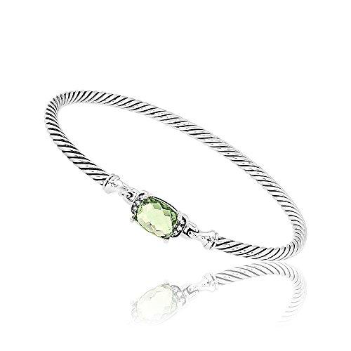 David Yurman Petite Wheaton Prasiolite & Diamonds Bracelet B11194DSSAPLDI -