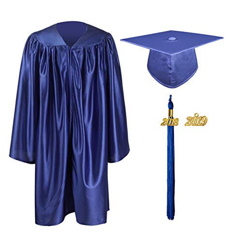 GraduationMall Kindergarten Graduation Gown Cap Set with 2018 Tassel (2019 optional) Royal Blue -