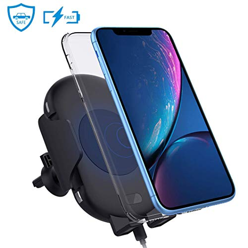 Qi Wireless Car Charger Mount, Zttopo Automatic Wireless 10W Fast Charging Air Vent Phone Holder, Infrared Motion Sensor Compatible with iPhone Xs XS MAX XR X 8 8 Plus, Galaxy Note 9 S9 S8 S8 Plus S7