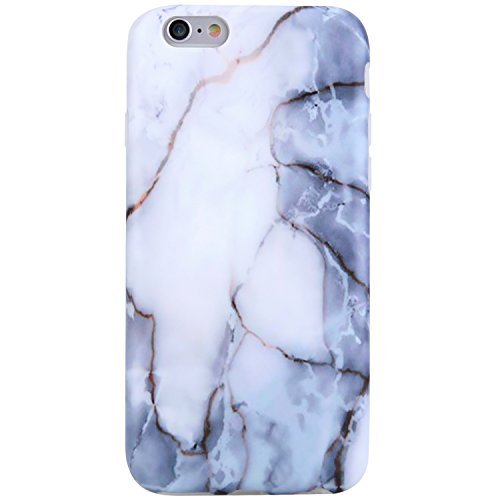 VIVIBIN iPhone 6 Case,iPhone 6s Case,Cute Off White Grey Marble Women Girls Clear Bumper Best Protective Soft Silicone Rubber Matte TPU Cover Slim Fit Best Phone Case iPhone 6/iPhone 6s