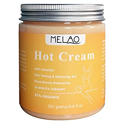 Hot Cream for Cellulite Reduction, Skin Toning and Slimming, Pain Relief Cream for Muscle Relaxation, Firms Skin, Muscle Rub and Massage Gel