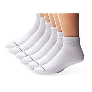 Under Armour Men's Charged Cotton Low-Cut Socks (6 Pair), White, Large (Men's 9 - 12.5 / Women's 11 - 13)