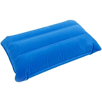 Camping Portable Inflatable Pillow Travel Pillow Outdoor Foldable Camping Pillow (Blue)