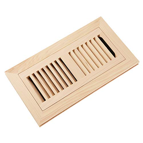- Homewell Hickory Wood Floor Register, Flush Mount Floor Vent Cover, 4X10 Inch, with Damper, Unfinished