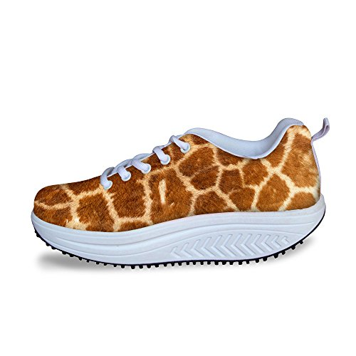 Câlins Idée Mode Femmes Chaussures De Sport Plateforme De Remise En Forme Chaussures De Marche Cerf