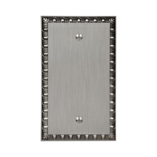 Amertac 90BAN Egg & Dart Antique Nickel Cast Wall Plate, Blank by AmerTac