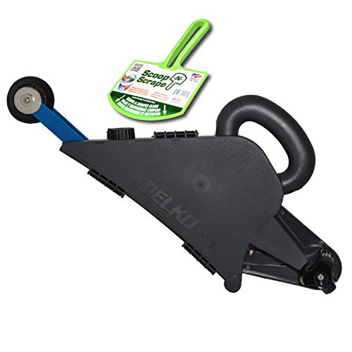 Banjo Wheel - Delko Drywall Banjo Taper Handheld Taping Tool with Inside Corner Roller Creaser Wheel (Banjo + Mud Scoop)
