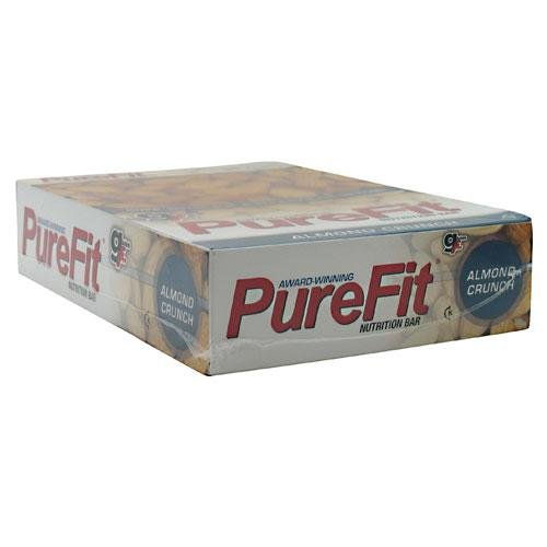 PureFit Almond Crunch Premium Nutrition Bars, 15 Count | The Original 18G Protein, Gluten Free, Non-Dairy, Low Carb, Vegan Snack Bar for Healthy Living, Performance Enhancement and Energy