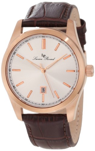Lucien Piccard Men's LP-11568-RG-02S Eiger Brown and Rose Leather Watch