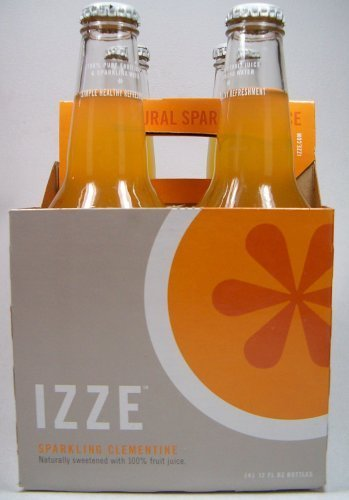 Izze Sparkling Clementine Soda Full Case (24 12oz Bottles)