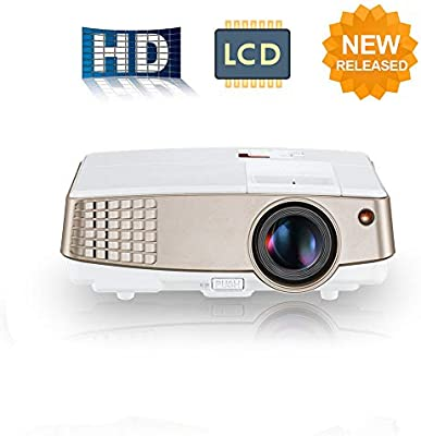 LCD Outdoor Cinema Projector HD Portable LED Home Projector con ...