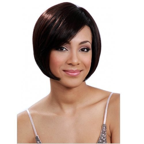 BOBBI BOSS Human Premium Blend Wig - MB100 NIA by MIDWAY (#2 - Dark Brown)