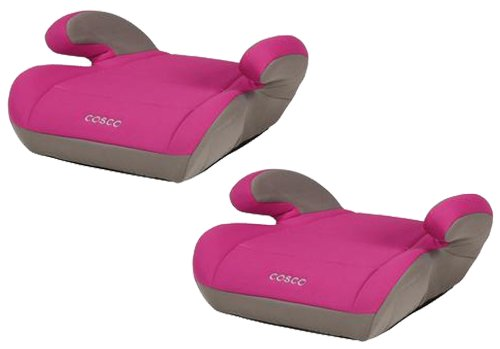 Cosco Juvenile Top Side Booster Seat, Twin Pack, Magenta