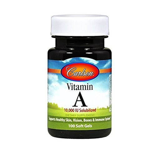 Carlson Labs Vitamin A Soluble 10000iu Softgels, 100 Count
