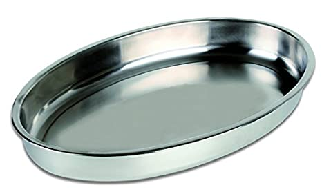 Chef Direct Stainless Steel Deep Oval Baking Dish - Length 45 Cm X Height 5.3 Cm