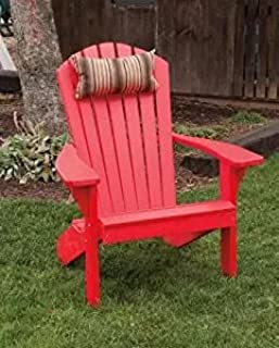 product image for Poly Folding and Reclining Fanback Adirondack Chair - Bright Red