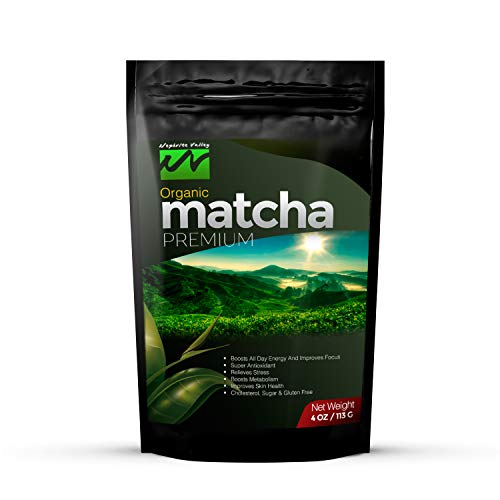 Nephrite Valley Matcha Green Tea Powder, Tested & Proven to Boost Energy and Assist with Weight Loss, 100% Pure Organic, Culinary Grade with Antioxidants for Lattes, Smoothies, Yogurt & Baking, 4oz