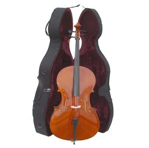 Merano MC150SST 4/4 Size Cello Hard Case with Bag, Bow and 2 Sets of Strings, Black by Merano (Image #2)