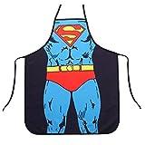 Adjustable Bib Apron with Pocket Comic Characters Adjustable Bib Apron with Pocket, Character Apron (Superman)