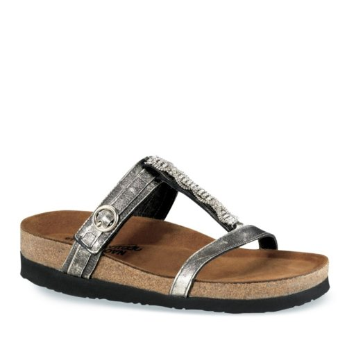 Naot Skodon Kvinnor Malibu Kvarts Läder Sandal 195 Metall