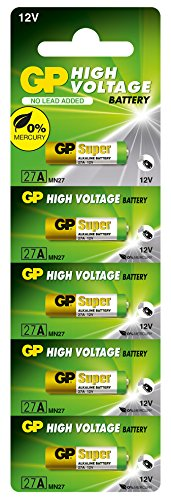 GP 27A (MN27) High Voltage Battery - Card of 5 pieces
