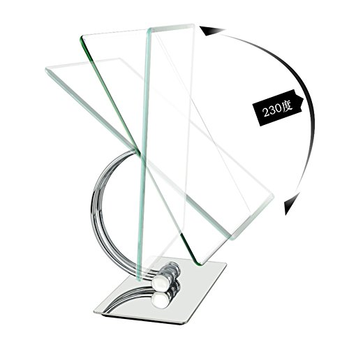 large square mirror/ desktop single-sided makeup mirror/Mirror stainless steel metal/[European princess mirror]-A chic