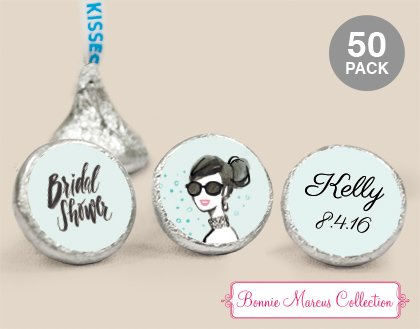 - Bonnie Marcus Sunny Soiree Bridal Shower HERSHEY'S KISSES Candy (200 Completely Assembled) - Free Cold Packaging