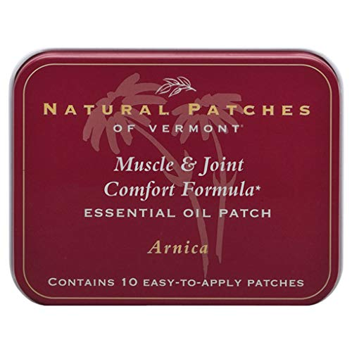 Natural Patches Of Vermont Arnica Muscle & Joint Comfort Essential Oil Body Patch, 10-Count Tin ()