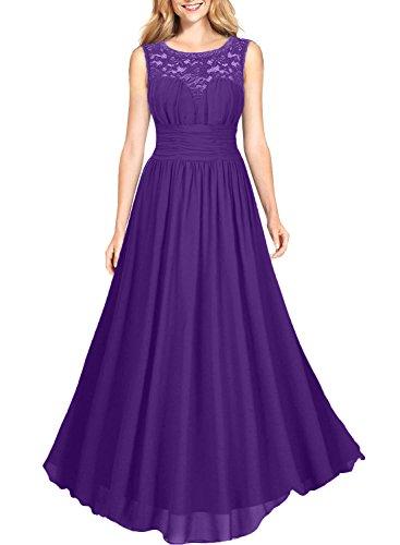 Linie Abschlussballkleider Chiffon Brautmutterkleider mia Brau A Elegant La Spitze Jugendweihe Kleider Lila Abendkleider Promkleider 7XxnTv5
