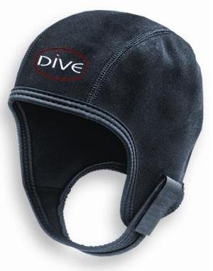 - New Scuba Diver 1mm Neoprene Sport Beanie (Large/X-Large) with Dive Gear Design for Boatwear and WaterSports - Black