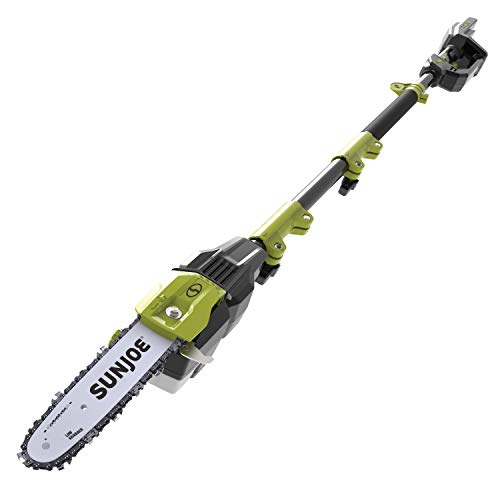 Sun Joe iON100V-10PS-CT 10-Inch 100-Volt Max Lithium-iON Cordless Telescoping Pole Chain Saw, Core Tool (No Battery + Charger)