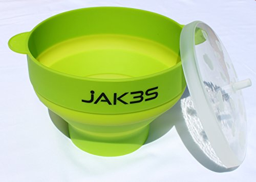 Jak3s Microwave Popcorn Popper Bowl for the Home.Safe altern