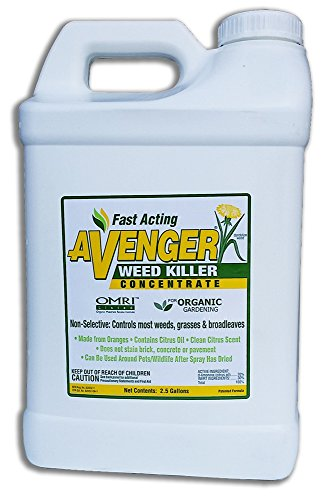 AVENGER Organic Weed Killer, biodegradable, non-toxic - Concentrate 2.5 Gallon