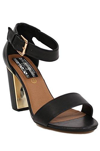 PILOT® Women's Block Heel Strappy Sandals in Black Black 3WPc4Wi7s