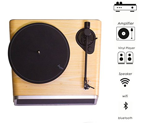 HYM Seed Professional Turntable Stereo System, Smart Vinyl Records Turntable Built in 80Watt HiFi Speakers Bluetooth Wifi AUX-in USB w/Turntable Dust Cover&Remote Controller for Vinyl Records Player by HYM (Image #2)