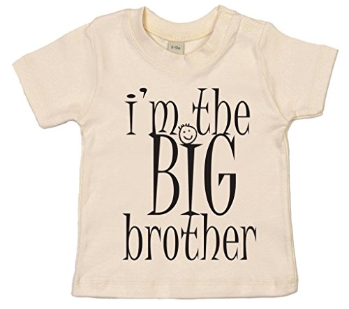 Dirty Fingers, I'm the BIG Brother, Baby Boy T-shirt, 18-24m, (Natural Big Brother T-shirt)