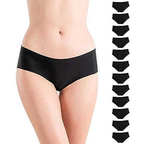 - 41I 2Bzcw6IdL - Alyce Intimates Women's Laser Cut Bikini 12 Pack