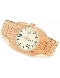 Men's Quadro Aviator Luminous Dial Swiss GMT Rose Gold Tone Watch SQR.LUM.SQR.515