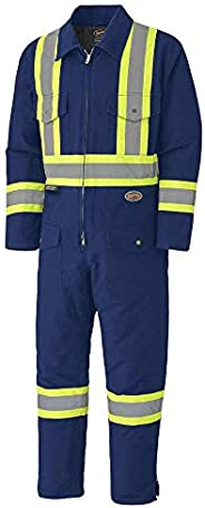 Pioneer V206095A Insulated Heavy-Duty Work Coverall, Hip-to-Ankle Zipper