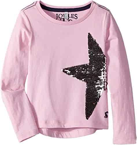 3b4dcc0d358e Joules Kids Baby Girl's Sequin Embroidery Jersey Top (Toddler/Little Kids/Big  Kids