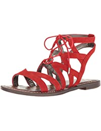2492adc9d572 Amazon.com  Red - Flats   Sandals  Clothing