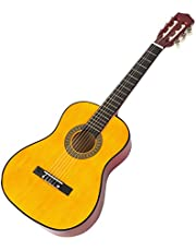 Music Alley 6 String Junior Guitar, Right Handed, Natural (MA34-N)