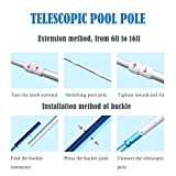 Vikii Store 12 Foot Pool Pole Telescopic Aluminum